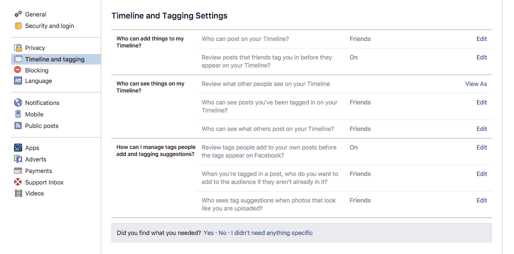 facebook-Timeline-and-Tagging-Settings